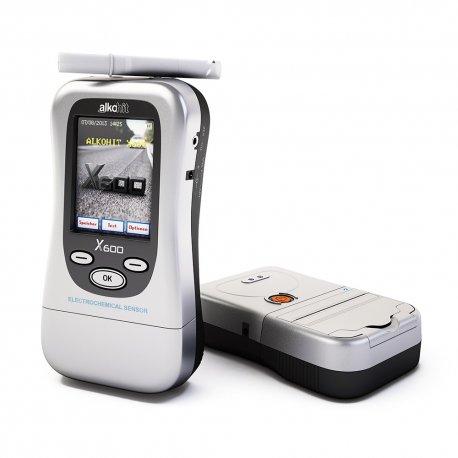 Alkohit X600 z drukarką bezprzewodową Bluetooth D100